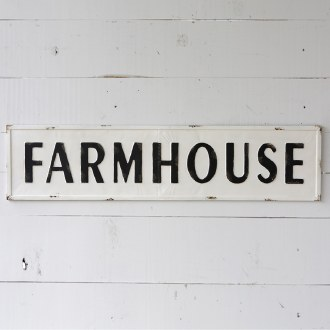 Farmhouse Sign Metal Embossed