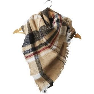 Bouniful Blanket Plaid Scarf