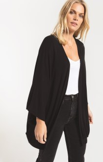 The Premium Fleece Cardigan Black Small