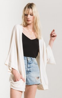 The Premium Fleece Cardigan Oatmeal Small