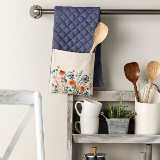 Floral Double Oven Mitt