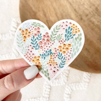 Sticker: FLoral Heart