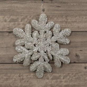 "14"" Silver Cedar Snowflake"