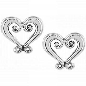 Genoa Heart Mini Post Earrings