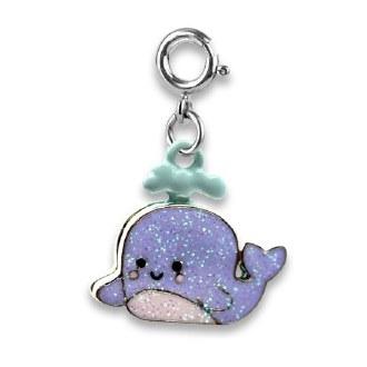 Glitter Whale Charm