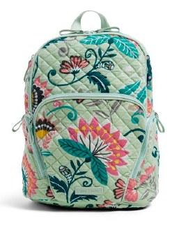 Hadley Backpack Mint Flowers