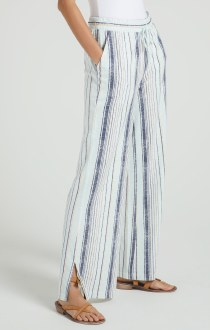 Hana Stripe Pants Aqua Reef