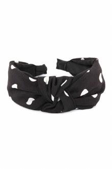 Knotted Headband: Black Polka Dot