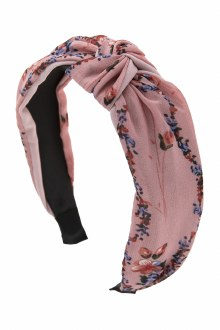 Knotted  Headband: Pink Floral