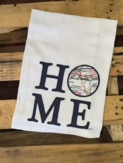Danville Map Home Towel