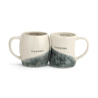 Grandpa and Grandma Hug Mugs