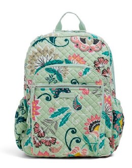 Iconic Campus Backpack Mint Flowers