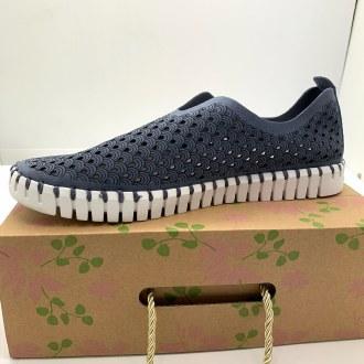 Grey/Blue Slip-On