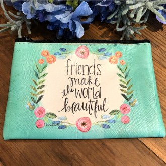 Friends Make The World Beautiful Coin Purse