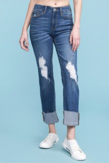 Judy Blue Cuffed Destroy Jeans