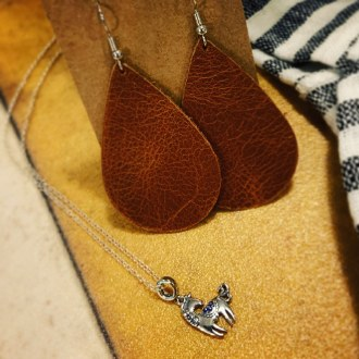 Raffle: Horse Necklace & Leather Earrings