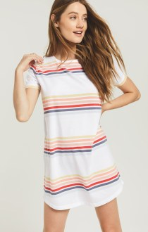 Lanai Stripe Dress White Combo