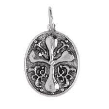 Large Freedom Poetic Cross - Silver