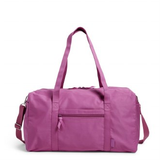 Large Travel Duffel: Rich Orchid