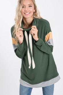 French Terry Drawstring Top