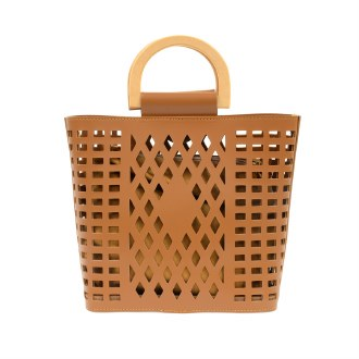 Madison Cut Out Tote Camel