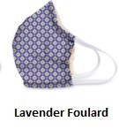 Cotton Face Mask Lavender Foulard