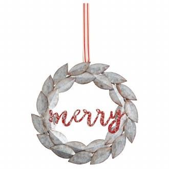 Merry Wreath Door Hanger