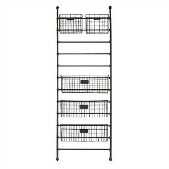 Metal Shelf w/ 5 Baskets