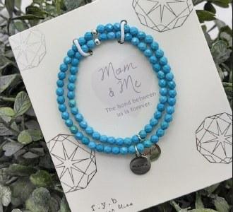 Mom & Me Bracelet Set: Turquiouse