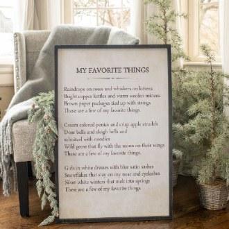 My Favorite Things Sign