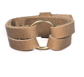 O-Ring Leather Bracelet