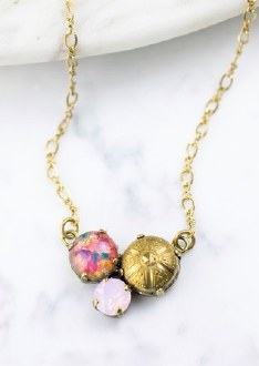 Pink Opal Mignon Necklace