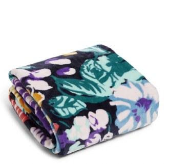 Plush Throw Blanket: Happy Blooms