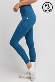 Pocket Butter Leggings: Teal