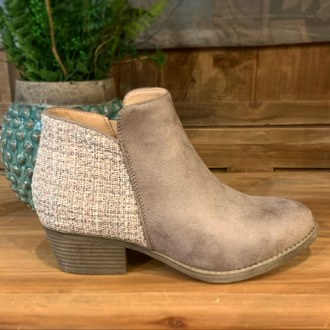Prevail Taupe Booties 8