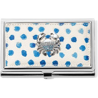 Blue Water Metal Card Case
