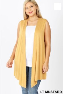 Drapey Sleeveless Cardigan
