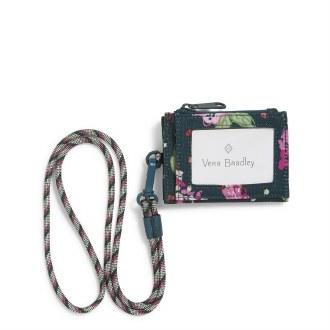 ReActive RFID Lanyard Card Case: Hope Blooms Teal