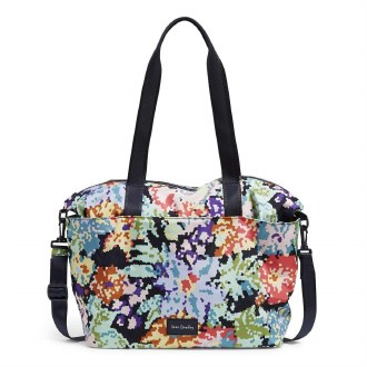 ReActive Tote : Happy Blooms Cross Stitch