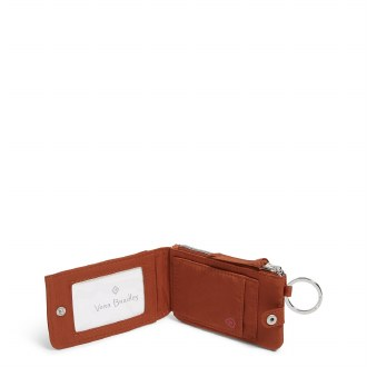 RFID Deluxe Zip ID Case: Toasted Terracotta