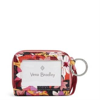 RFID Petite Zip-Around Wallet: Rosa Floral