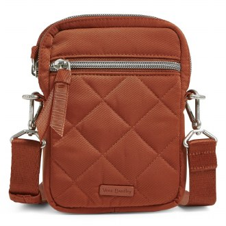 RFID Small Convertible Crossbody: Toasted Terracotta