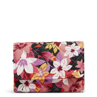 RFID Riley Compact Wallet: Rosa Floral