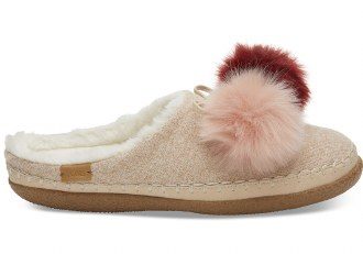 Rose Cloud Pom Pom Slippers 10