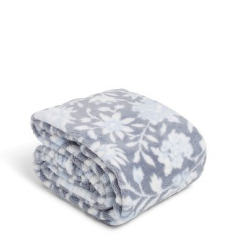 Plush Shimmer Throw Blanket Frosted Lace