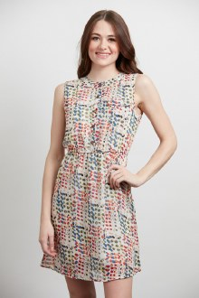 Circle Confetti Print Dress Me