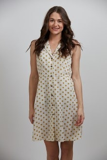 Polka Button Dress Medium