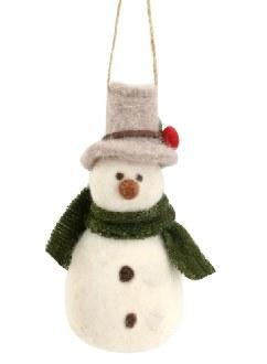 Felt Snowman Ornament