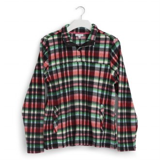 Sporty Fleece Pullover: Ribbons Plaid
