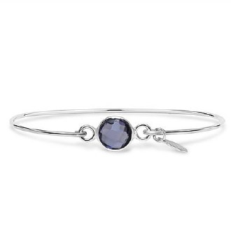 Silver February Birthstone Bracelet